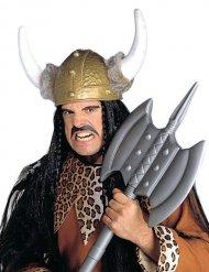 Wikinger Helm mit Fell braun-weiss