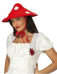 Glückspilz-Hut gepunktet rot-weiss