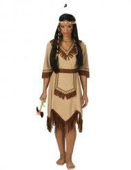 Apachen Indianerin Damenkostüm braun