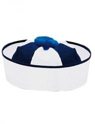Matrosenmütze Kostüm-Accessoire blau-weiss