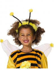 Biene Haarreif für Kinder gelb-schwarz