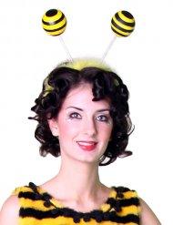 Haarreif mit Bienenfühlern gelb-schwarz