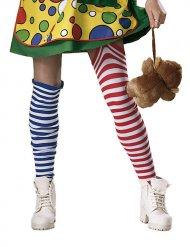 Ringel-Kniestrümpfe Clown bunt