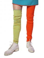 Clown-Stulpen Kostümaccessoire bunt