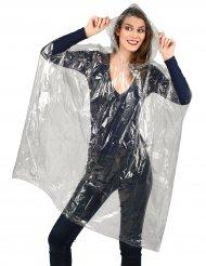 Regen-Mantel Regen-Poncho mit Kapuze transparent