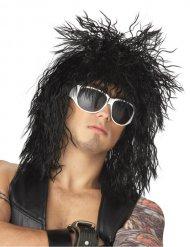 Glam-Rock Perücke schwarz