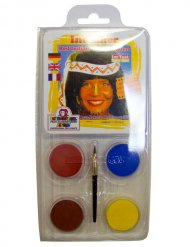 Motiv-Set Indianer Make-up Set 6-teilig bunt 20g