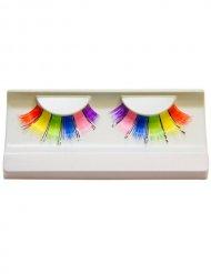 Wimpern Regenbogen 6-farbig bunt
