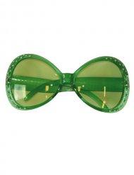 Diamant Brille Fun-Brille grün