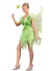 Sexy Märchen-Fee Damenkostüm Elfe grün