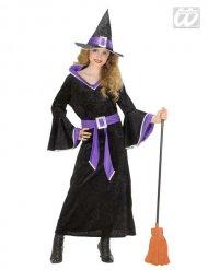 Hexe Halloween-Kinderkostüm schwarz-lila