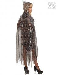 Spinnennetz-Umhang Kostüm-Zubehör schwarz-weiß