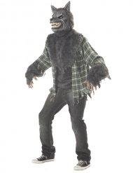 Ani-Motion Werwolf Halloween-Kostüm grau-grün