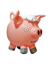 Aufblasbares Glücksschwein Geschenkidee rosa 25cm