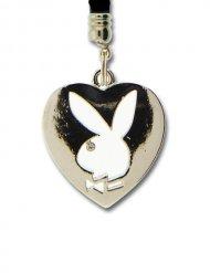 Playboy Handy-Anhänger Herz silber 6cm