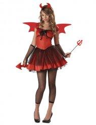 Teufelin Höllen-Dämonin Damenkostüm rot-schwarz