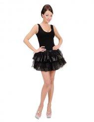 Mehrlagiger Petticoat Tutu schwarz