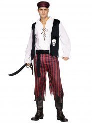 Piraten Kostüm schwarz-rot-weiss