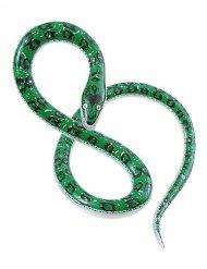 Aufblasbare Riesenschlange Party-Deko grün 152cm