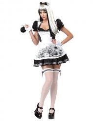 Dark Alice Halloween Damenkostüm Märchen weiss-schwarz