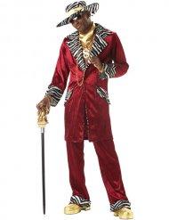 Pimp Daddy Checker Kostüm rot-weiss-schwarz