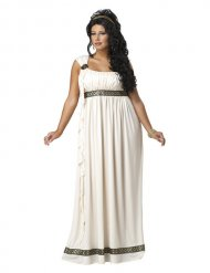 Griechische Göttin Damenkostüm übergröße beige-braun