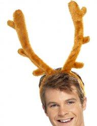 Hirsch-Geweih Haarreif Weihnachten braun