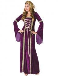 Mittelalter Damenkostüm lila-gold