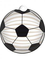 Laterne Fussball Party-Deko weiss-schwarz 22cm