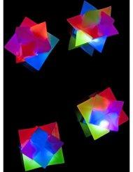 Leuchtflummi Spielzeug bunt 4x4x4cm