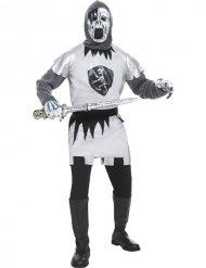 Geister Zombie Ritter Kreuzritter Halloween Kostüm grau-weiss-silber