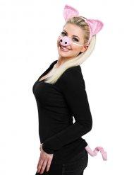 Schweinchen Schwein Kostüm Set rosa