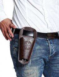 Cowboy Pistolenholster Pistolenhalfter lose braun