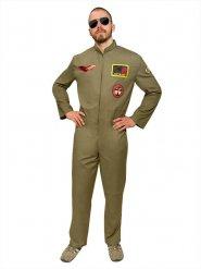 Kampfpilot Jetpilot Pilot Kostüm khaki