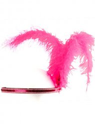 20er Charleston Showgirl CanCan Stirnreif Federn pink