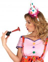 Clown Hut Miniaturhut Haarreif weiss-pastellbunt