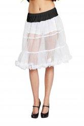 Petticoat Unterrock Rüschenrock weiss