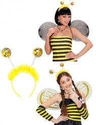 Pailletten Bienen-Fühler Haarreif gelb
