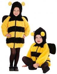 Bienen Baby-/Kleinkinderkostüm aus Plüsch gelb-schwarz