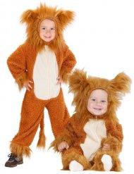Löwe Kinderkostüm Babykostüm aus Plüsch braun