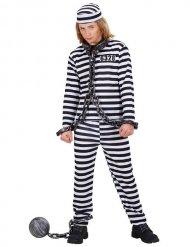Sträfling Kinderkostüm Verbrecher schwarz-weiss