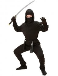 Ninja Kinderkostüm Krieger schwarz