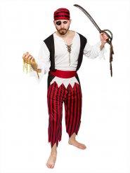Pirat Kostüm Seeräuber schwarz-weiss-rot