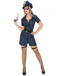 Polizistin Damenkostüm Uniform dunkelblau-schwarz