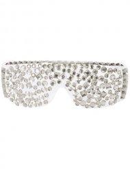 Disco Brille Diamanten weiss-silber