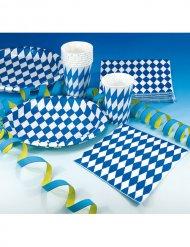 Servietten Bayern Party-Deko 20 Stück blau-weiss