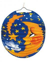 Lampion Mond Gartenparty-Deko blau-orange