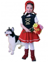 Rotkäppchen Märchen Kinderkostüm schwarz-weiss-rot