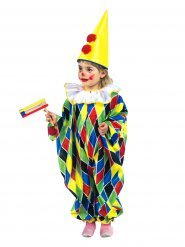 Clown Zirkus Narr Overall Kinderkostüm bunt-kariert