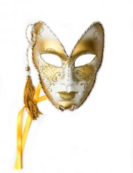 Venezianische Maske Theatermaske Glitter Karneval gold